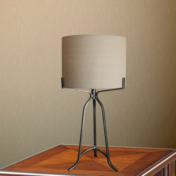 "#1546DS 27.5"" Modern Metal Table Lamp in Dark Silver"