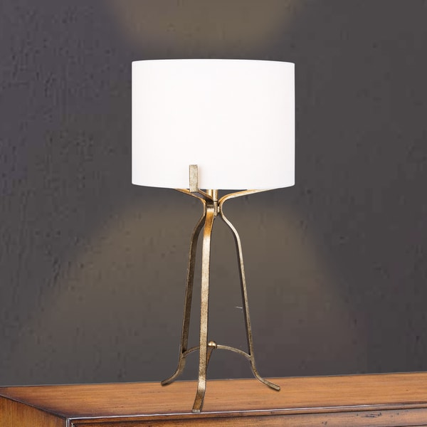 "#1546CG 27.5"" Modern Metal Table Lamp in Champagne Gold"