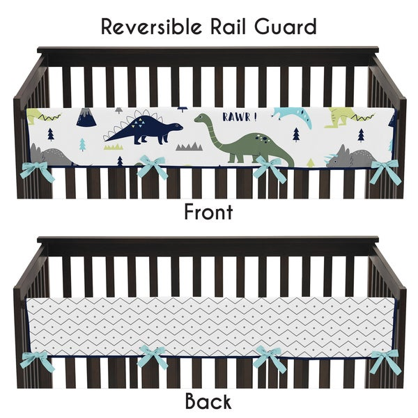 17 Adorable Ways To Decorate Above A Baby Crib: Shop Sweet Jojo Designs Blue And Green Mod Dinosaur