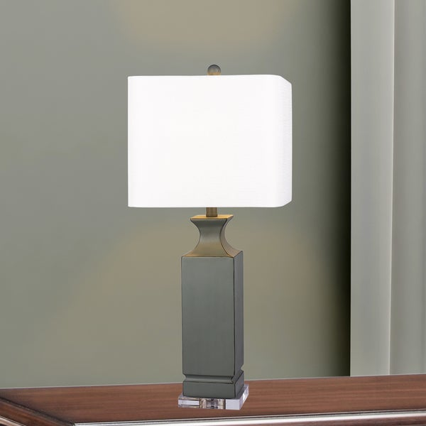 Shop 6218gry 30 Inch Grey Resin Column Table Lamp With Clear