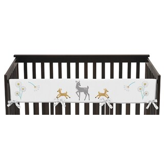 Sweet Jojo Designs Forest Deer Collection Multicolored Microfiber Long Crib Rail Guard Cover