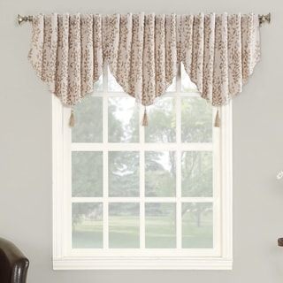 Sun Zero Rochelle Blackout Lined Back-tab Window Valance - 52 x 24 (Linen)
