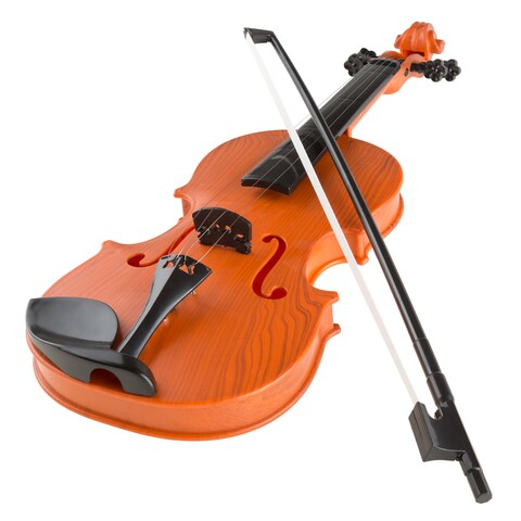 Hey! Play! Musical Toy Violin with Bow Battery-operated