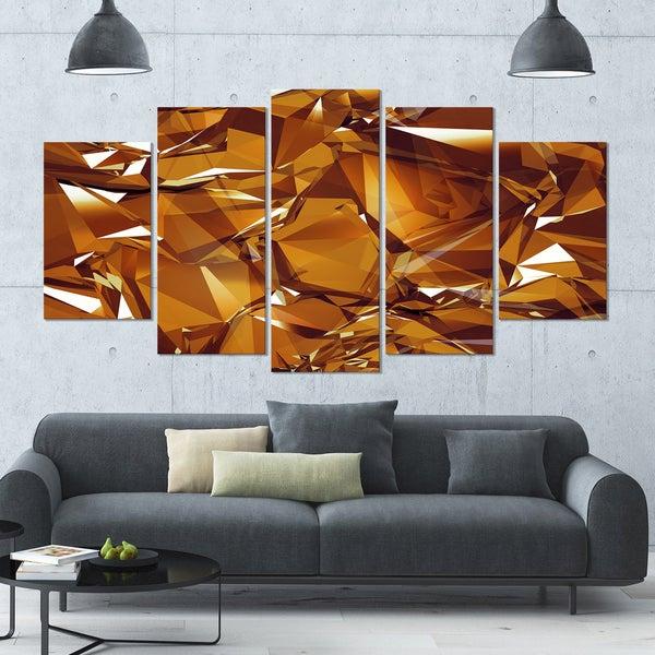 Home Design 3d Gold Import: Shop Designart '3D Gold Crystal Background' Abstract