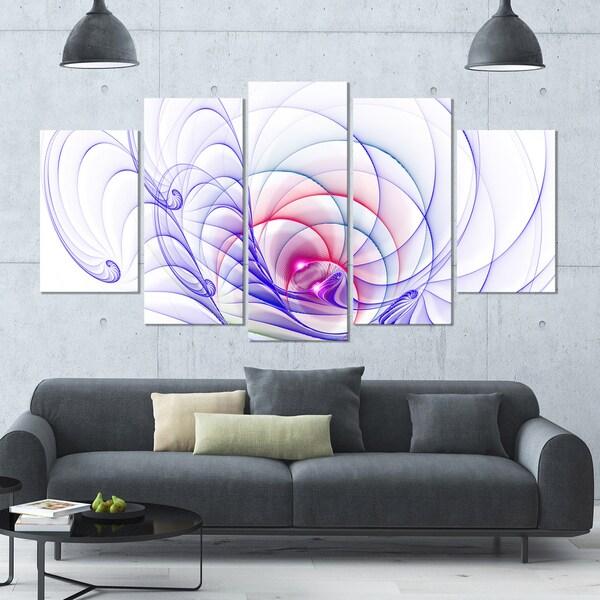Designart '3D Blue Surreal Illustration' Multipanel Canvas Art Print - 60x32 5 Panels