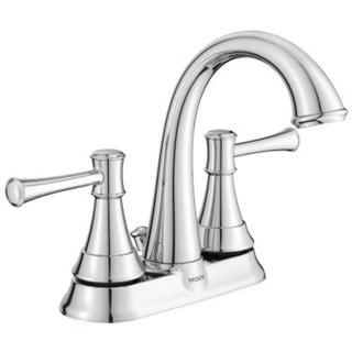 Shop Moen Ashville Centerset Bathroom Faucet Ws84777msrn Spot Resist Brushed Nickel Microban
