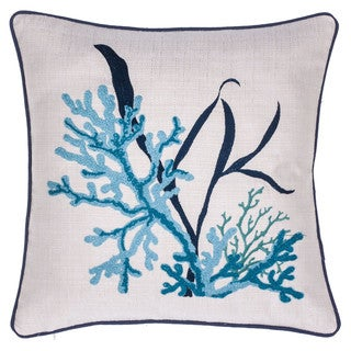 Sea Grass Cotton 18x18 Throw Pillow