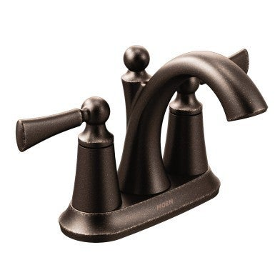 Shop Moen Wynford Oil Rubbed Bronze Centerset Bathroom Faucet Free