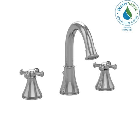 Toto Vivian Alta Two Cross Handle Widespread 1.5 GPM Bathroom Sink Faucet, Polished Chrome (TL220DDH#CP)