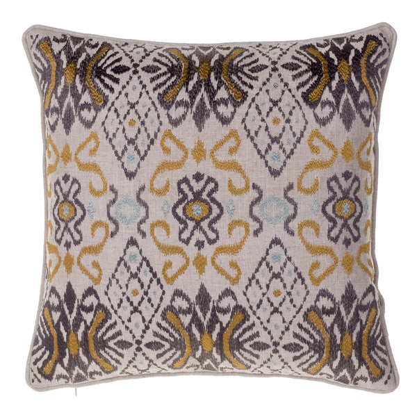Ikat Linen 18-inch x 18-inch Throw Pillow