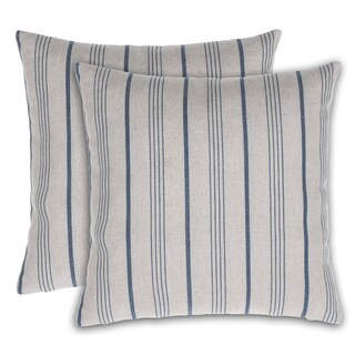 Burlap Stripe Throw Pillow (Set of 2)
