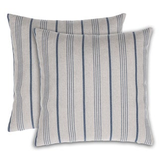Burlap Stripe 17-inch x 17-inch Throw Pillow (Set of 2)