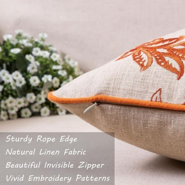 Linen cushion and embroidery collection versailles