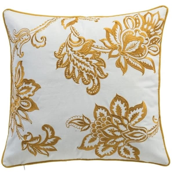 Carson Carrington Ynde Linen Embroidered Floral Throw Pillow Overstock 14629526