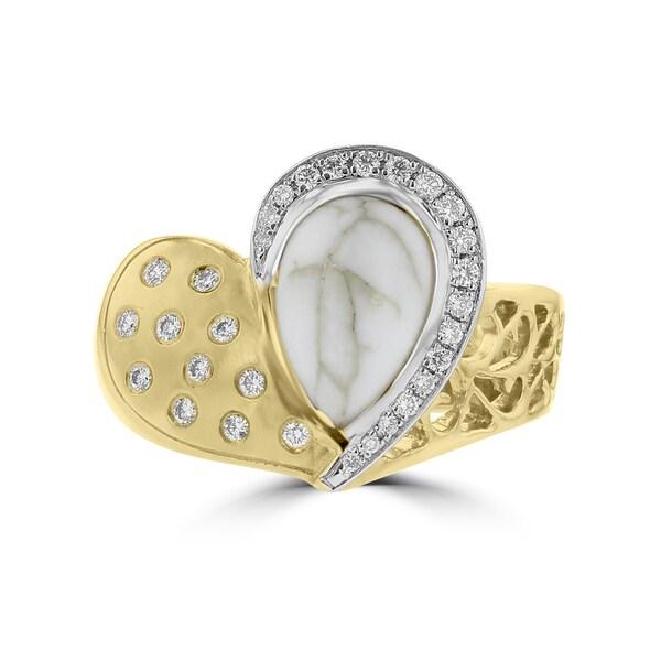La Vita Vital 14K Yellow Gold, Gold Quartz (1 5/6 ct. TGW), Diamond (1/5 ct. TDW) Ring