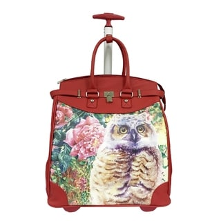 Rollies Owl Rolling Aluminum 14-inch Laptop Travel Tote