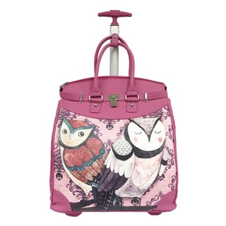 Rollies 2 Owls Rolling Pink 14-inch Laptop Travel Tote|https://ak1.ostkcdn.com/images/products/14629856/P21170504.jpg?impolicy=medium