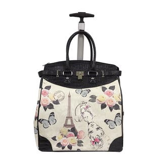 Rollies Paris Eiffel Tower with Butterfly 14-inch Rolling Laptop Travel Tote|https://ak1.ostkcdn.com/images/products/14629860/P21170514.jpg?impolicy=medium