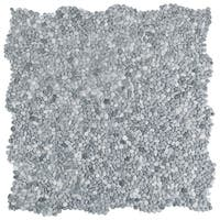 SomerTile 12.25x12.25-inch Pebble Mini Cloud Grey Pebble Stone Mosaic Floor and Wall Tile (10/Case, 10.4 sqft.)