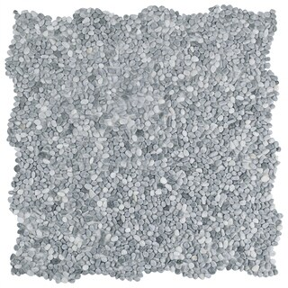 SomerTile 12.25x12.25-inch Pebble Mini Cloud Grey Pebble Stone Mosaic Floor and Wall Tile (10 tiles/10.4 sqft.)