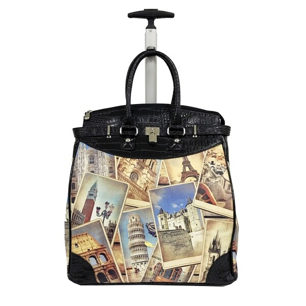 Rollies Europe Multicolor Synthetic Leather and Aluminum 14-inch Rolling Laptop Travel Tote. Opens flyout.
