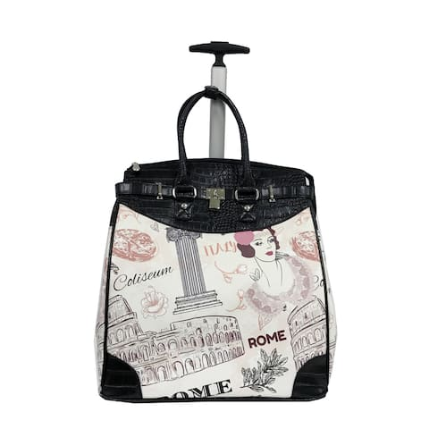 Rollies Rome Rolling Black 14-inch Laptop Travel Tote