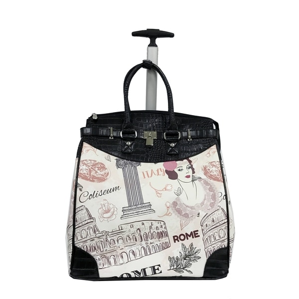 Rollies Rome Rolling Black 14-inch Laptop Travel Tote. Opens flyout.