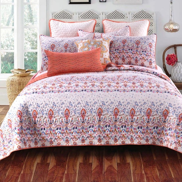 Amber Cotton Blend 3-piece Quilt Set