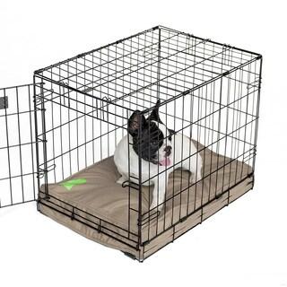 Orthopedic Memory Foam Tan Dog Crate Pad