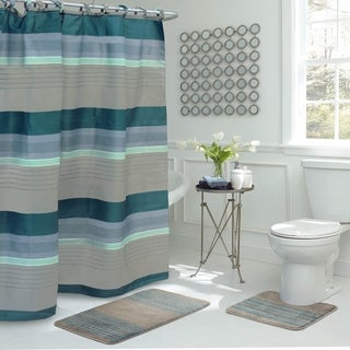 Regent Stripe 15-Piece Bathroom Shower Set