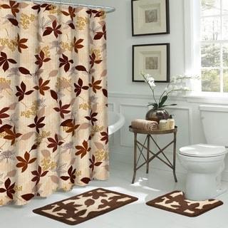 Blowing Leaves 15-Piece Bathroom Shower Set