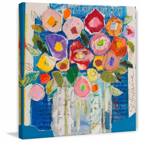 Marmont Hill - Handmade Floral Composition Print on Wrapped Canvas