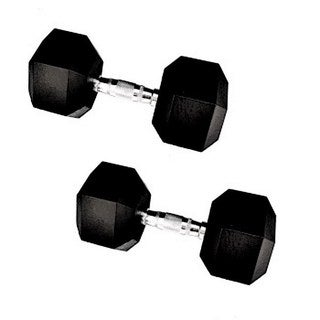 Vulcan Rubber 90-pound Hex-style Dumbell Pair