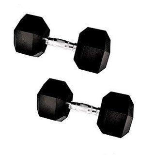 Rubber 50-pound Hex Dumbell Pair