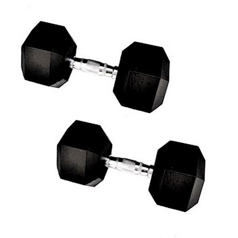 10-pound Rubber Encased Cast Iron Hex Dumbell Pair