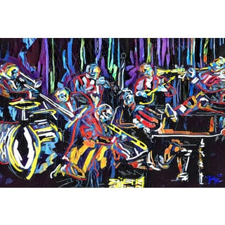 'Jazz Club' Painting Print on Wrapped Canvas