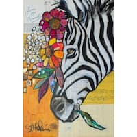 'Don't Change My Stripes' Painting Print on Wrapped Canvas - Yellow