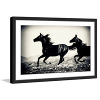 'Galloping Friends' Framed Painting Print