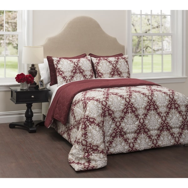 CASA Regency 6-Piece Bedding Comforter Set with Bonus Quilt