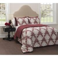 CASA Regency 6-Piece Bedding Comforter Set with Bonus Quilt