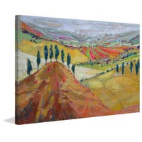 'Tuscany XII' Painting Print on Wrapped Canvas - Green