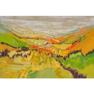 'Patchwork Hills VII' Painting Print on Wrapped Canvas