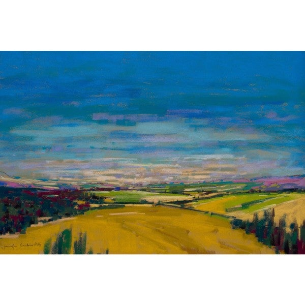 'Patchwork Fields XI' Painting Print on Wrapped Canvas