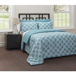 CASA Mia 6-Piece Bedding Comforter Set with Bonus Quilt