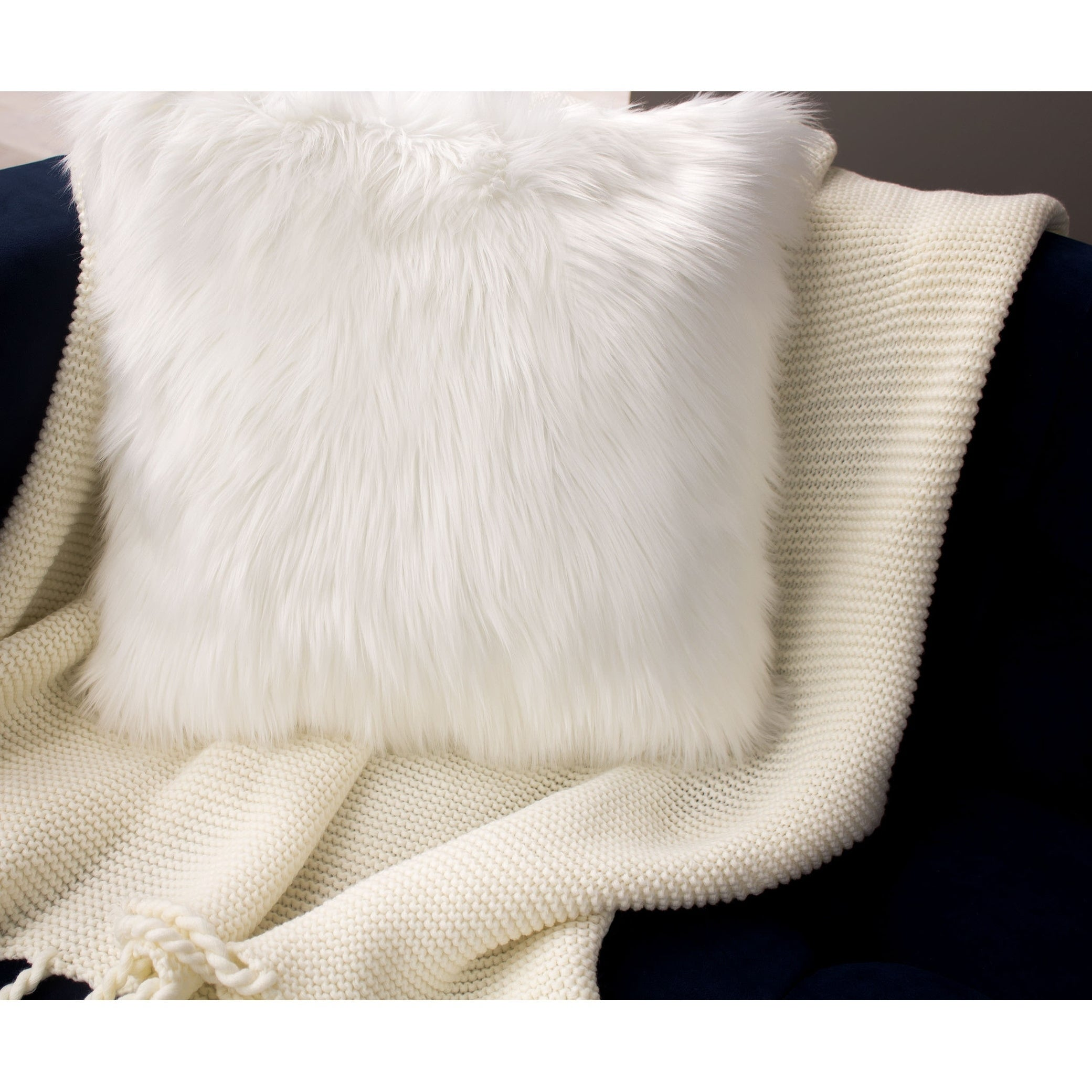 Jean Pierre Faux Fur 2 Piece Decorative Pillow Set