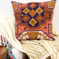 Boho Living Apex Crewel Embroidery Decorative Pillow