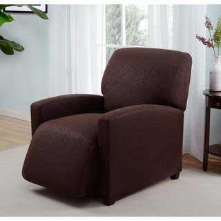 Stretch Jersey Scroll Recliner Slipcover