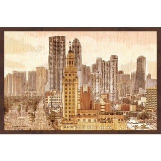 'Downtown Miami' Framed Painting Print