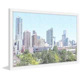 'Denver Skyline' Framed Painting Print