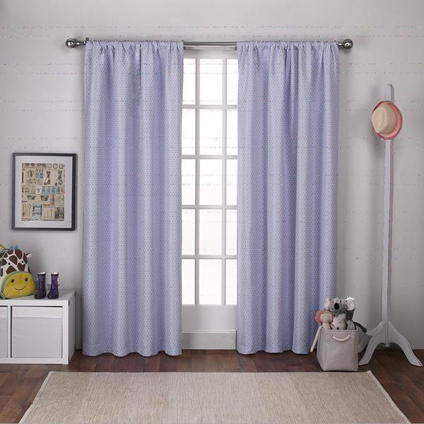 Ati Home Kids Polka Dot Jacquard With Blackout Liner Rod Pocket Window Curtain Panel Pair Free